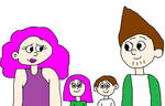 Adult Joey and Adult Pauline With Their Children