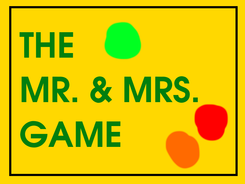 The Mr. And Mrs. Game From Sesame Street By