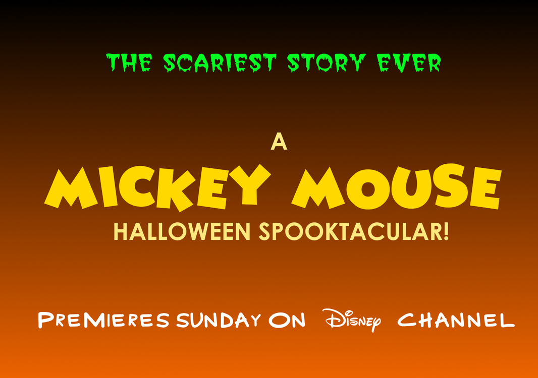 the scariest story ever a mickey mouse halloween by mikejeddynsgamer89