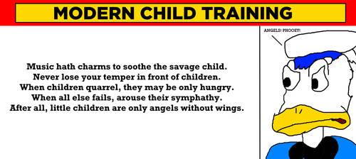 Donald Duck Despises Modern Child Training