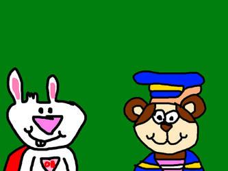 Opposite Bunny and Boysen Bear-y by MikeJEddyNSGamer89