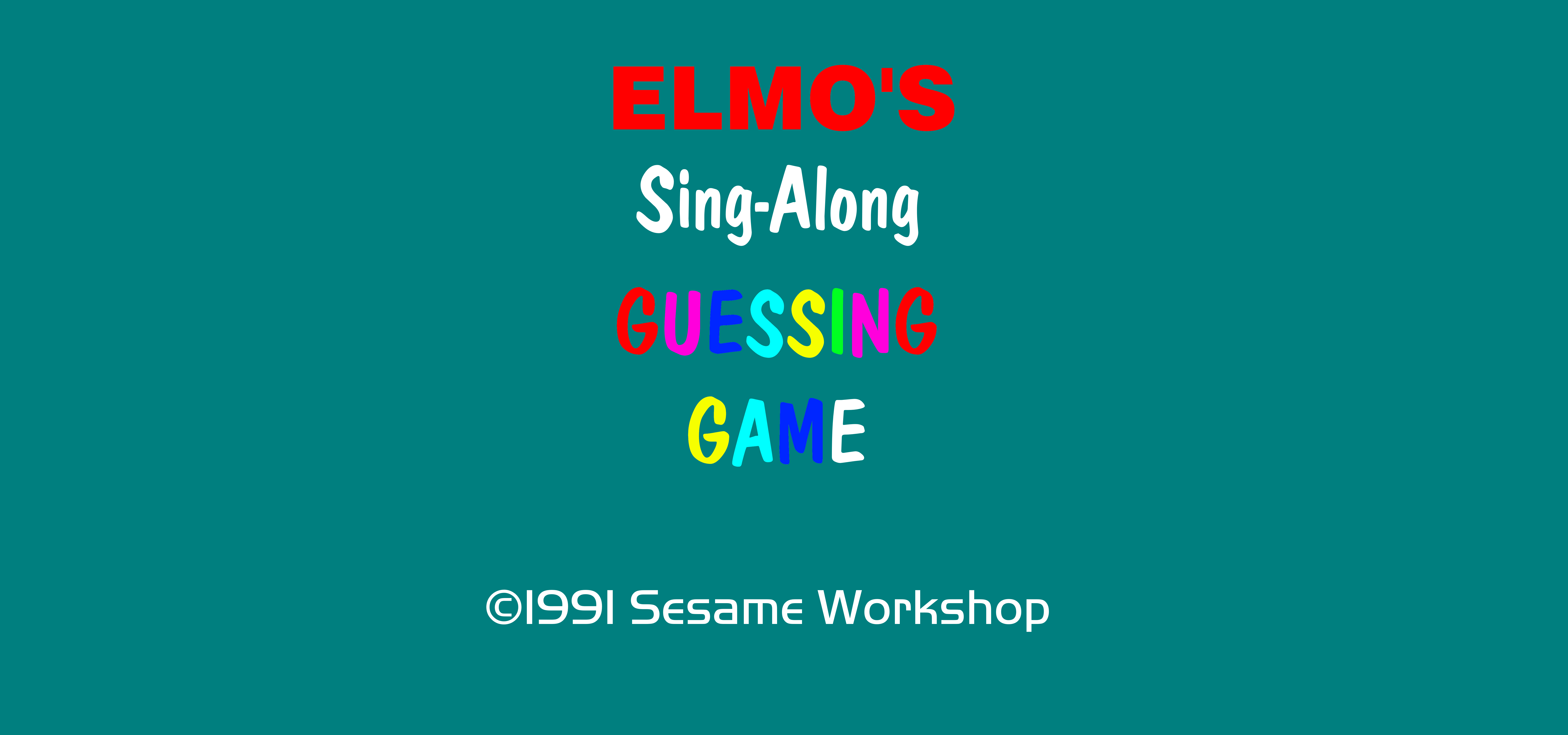 Elmo S Sing Along Guessing Game By Mjegameandcomicfan89 On Deviantart
