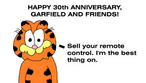 Happy 30th Anniversary, Garfield and Friends by MikeJEddyNSGamer89