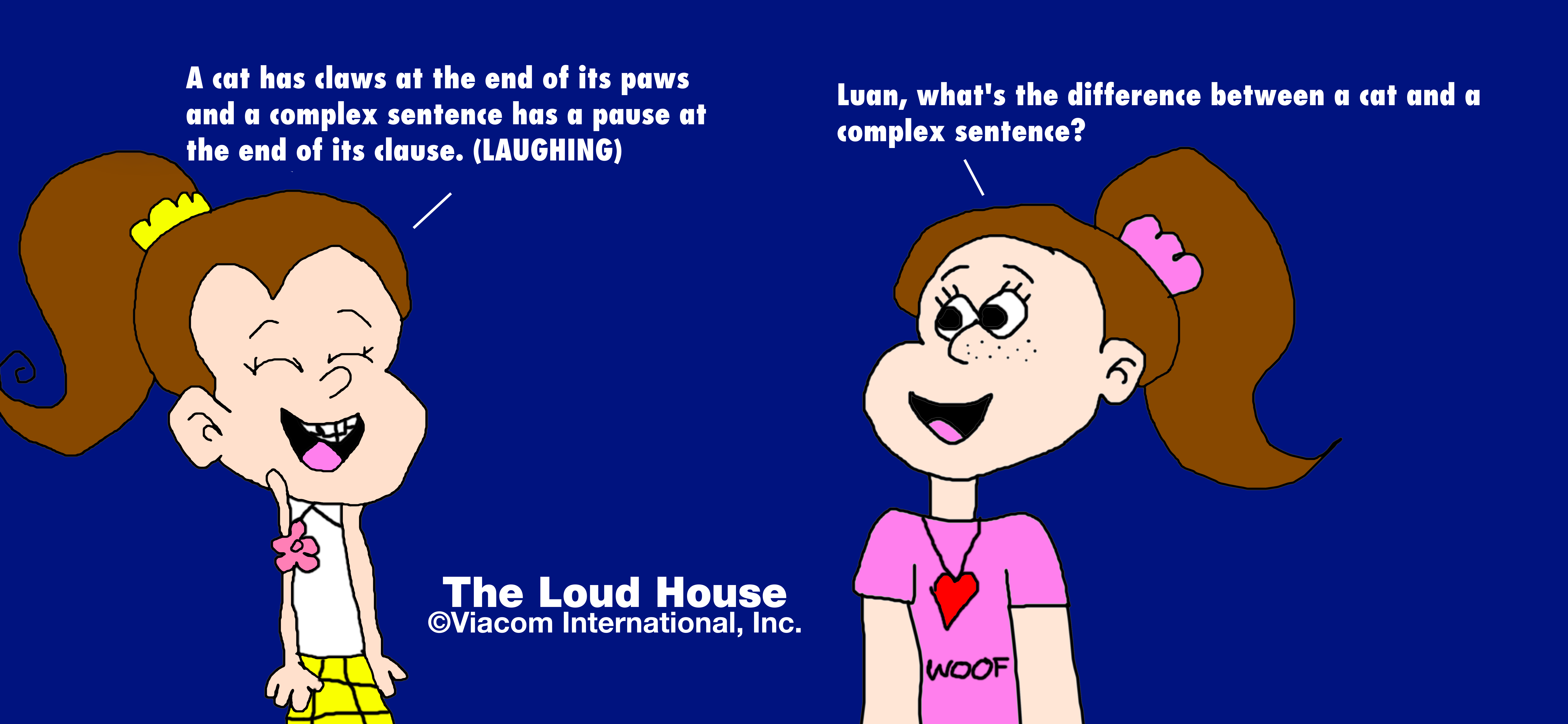 Luan and Allie's Complex Sentence and Cat Joke by