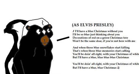 Skunk Singing Blue Christmas by MikeJEddyNSGamer89