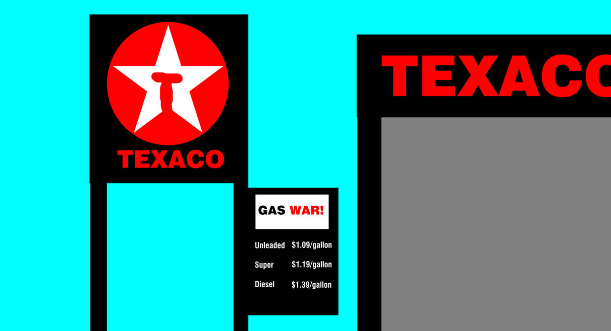 Texaco Station from 1985 on Back to the Future by