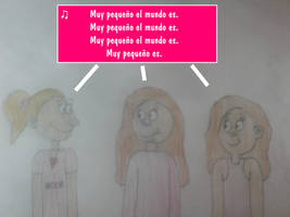 Allie, Milly and Haley Sang Un Pequeno Mundo by MikeJEddyNSGamer89