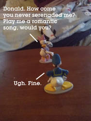 Daisy Wanted Donald to Play a Romantic Song by MikeJEddyNSGamer89