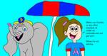 Allie Shea's Not Raining Joke with Dumbo by MikeJEddyNSGamer89