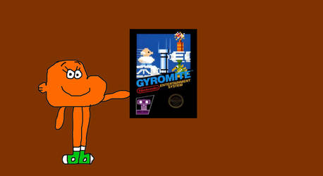 Darwin Watterson with his Gyromite NES Game by MikeJEddyNSGamer89