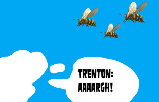 Little Trenton Running Away from the Bees by MikeJEddyNSGamer89