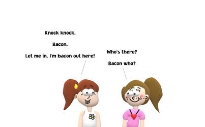 Allie and Luan's Bacon Knock-Knock Joke