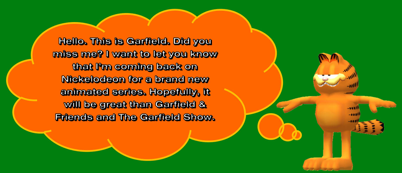 Garfield Will Be Back On Nick For New Series By Mjegameandcomicfan89 On Deviantart