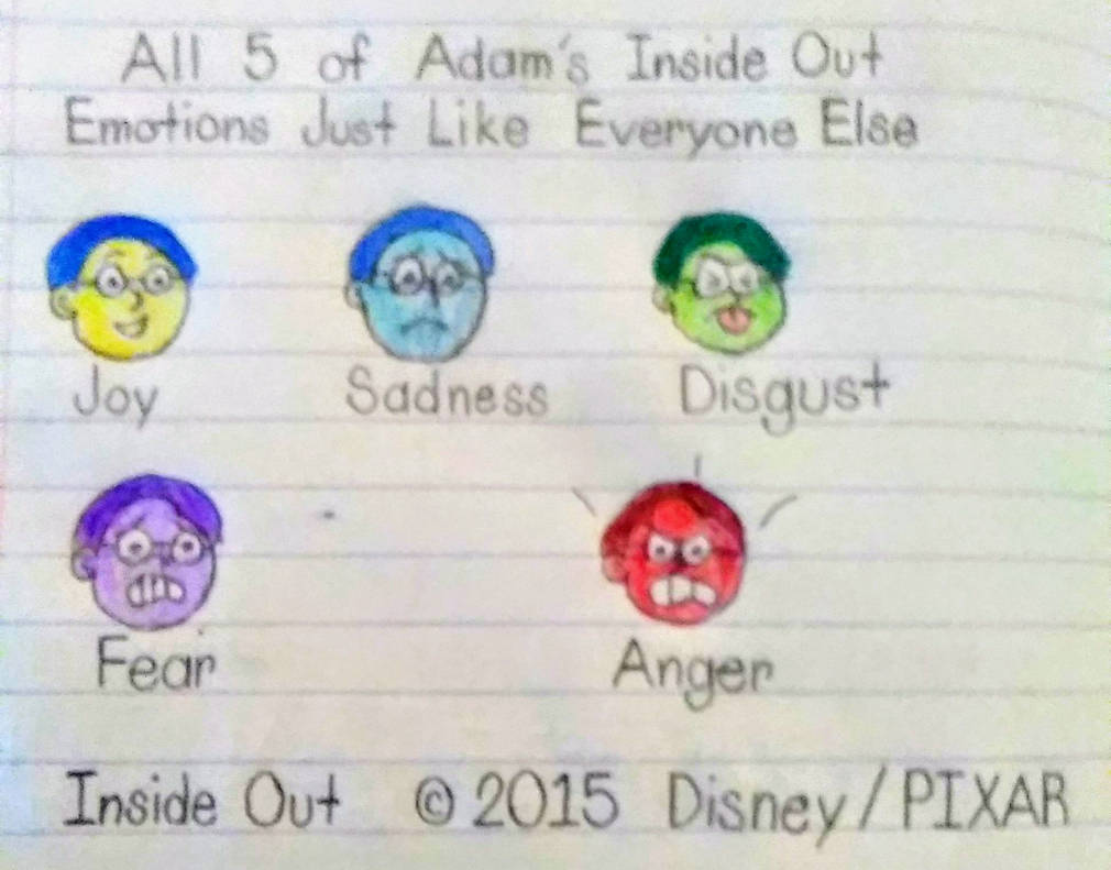 All 5 of Adam's Emotions from Inside Out by