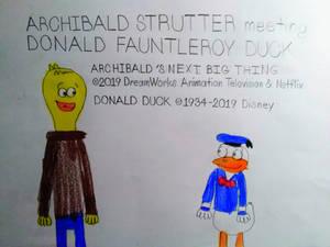 Archibald Strutter meeting Donald Duck