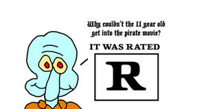 Squidward Tentacles' R-Rated Pirate Joke! Arrr!