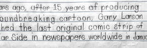 Gary Larson's final comic strip in January 1995