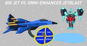 Big Jet Vs. Omni-Enhanced Heatblast