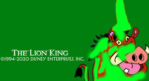 Green Paint Poured All Over Pumbaa!