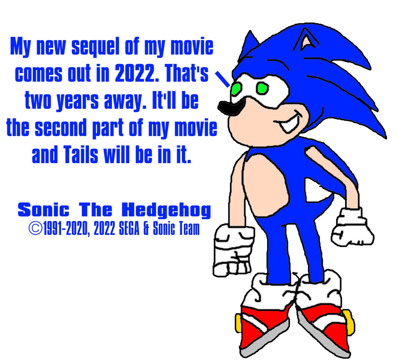 Sonic The Hedgehog 2 Coming In 2022 By Mjegameandcomicfan89 On