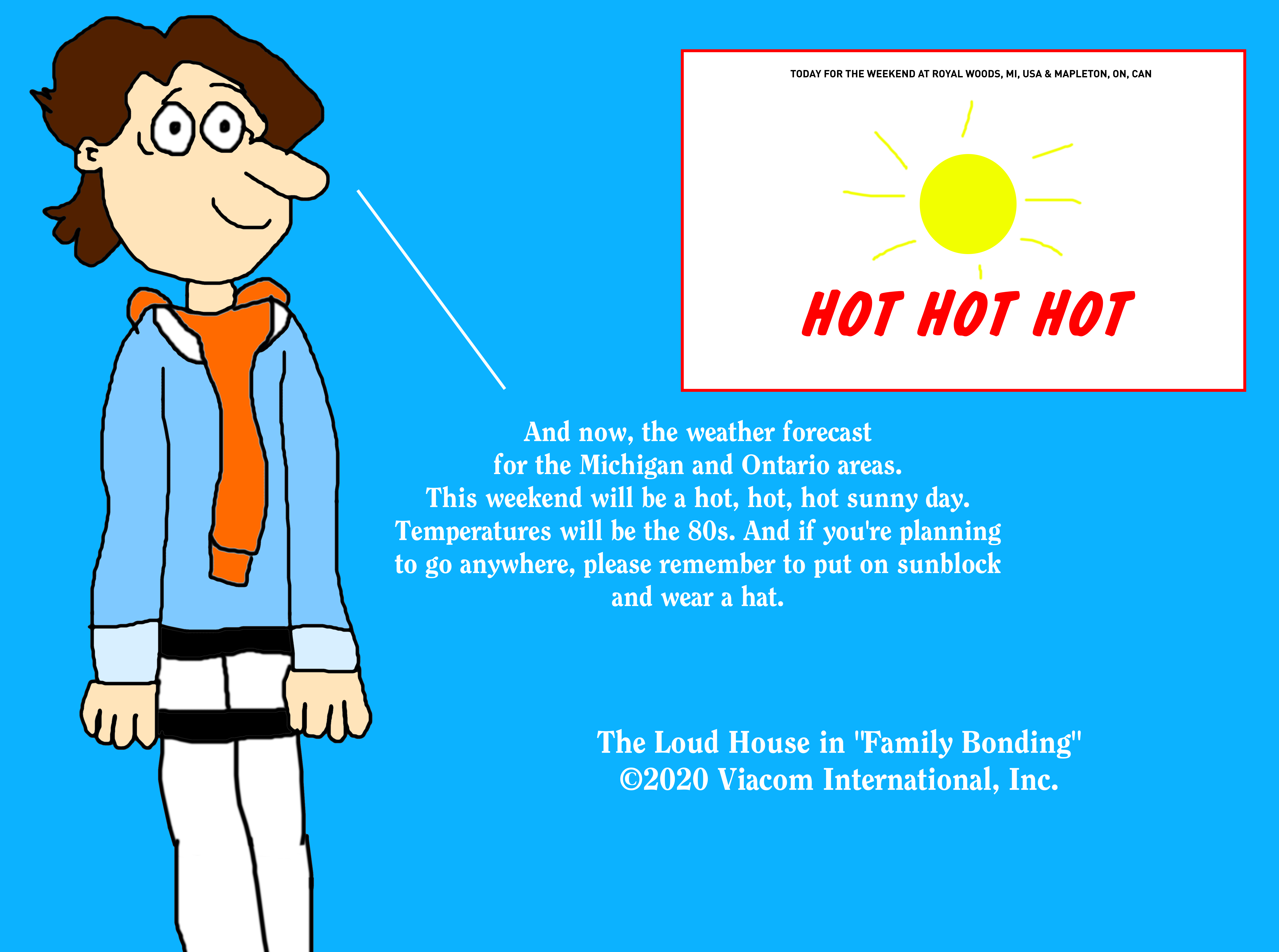 Jeff Miller Predicting The Hot Weather Forecast By Mjegameandcomicfan89 On Deviantart