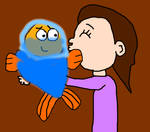 Marina Hugged and Kissed Fishtronaut