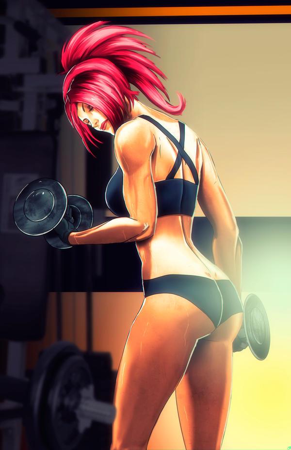 Kiyomi at the Gym By Madboy Art #3