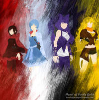 RWBY minimalist poster by HeartofFoolsGold
