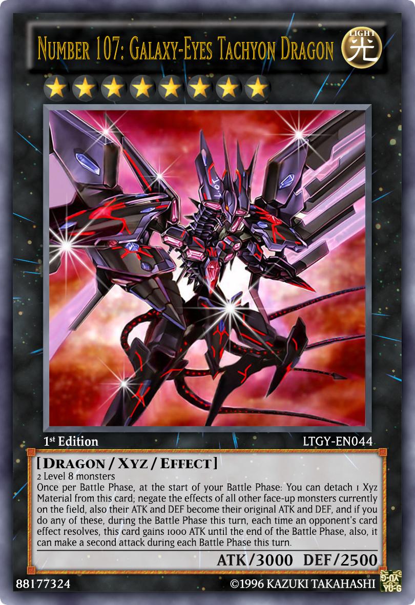 Number 107- Galaxy-Eyes Tachyon Dragon by thousandecibels on