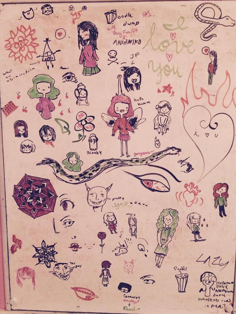 Whiteboard Doodle Dump by JayFan67
