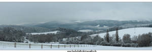 Panorama- winter in thuringia