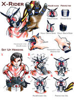 Remake X-Rider Set Up Henshin by PeaceGuy