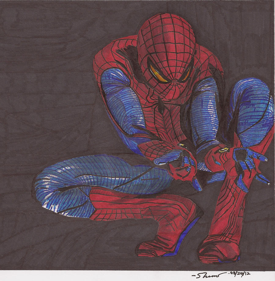 how to draw the amazing spider man 4