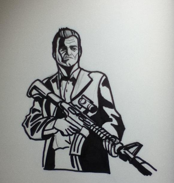 gta 5 michael drawing - photo #6