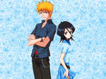 Bleach Rukia and Ichigo - Wall