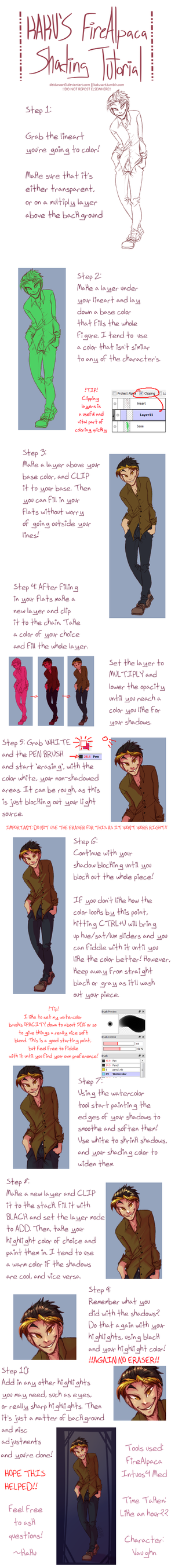 FireAlpaca Coloring Tutorial - The Kaku Way by deidaraart5