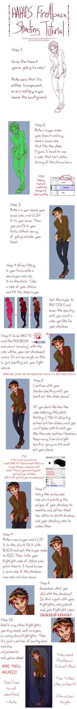 FireAlpaca Coloring Tutorial - The Kaku Way by deidaraart5