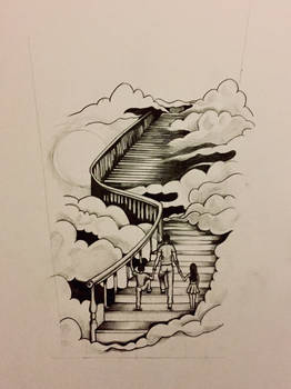 Stairway of family