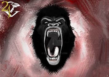 Angry Gorilla Sketch