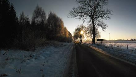 Frozen Road by WojciechGorski