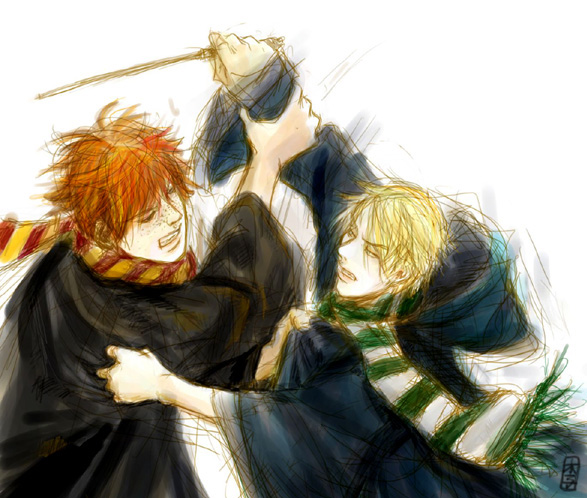 Ron + Draco Fight by speedtribes