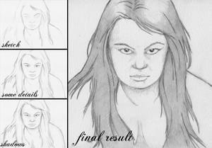 she - sketch 1 - progress