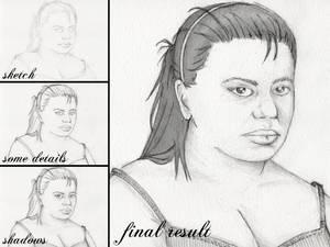 she - sketch 2 - progress