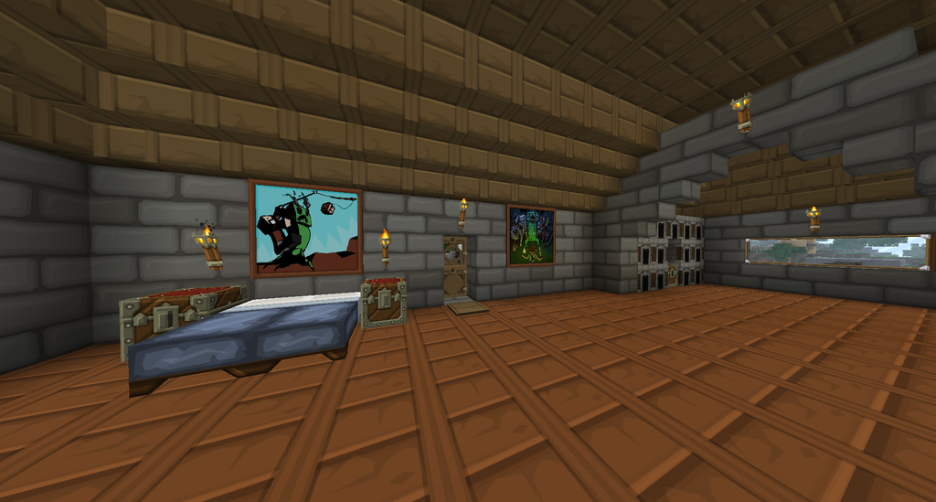 Inside my minecraft house 2 by evansy on deviantart for Minecraft xbox 360 interior designs
