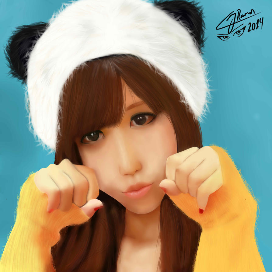 Japan Girl Panda by CJRamosArt