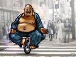 Buddha on bike