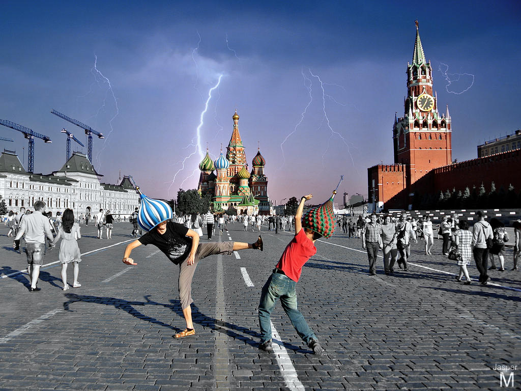 Red square run