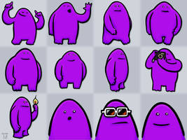 Purple yeti by Jasper-M