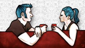 Coffee and hairdo by Jasper-M