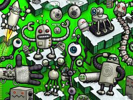 Robot invasion by Jasper-M